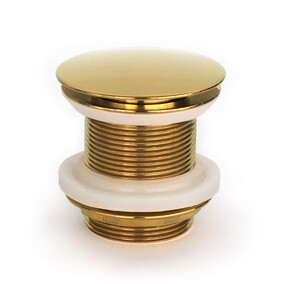 Basin Wastes - Dome style,gold finish - suits bathroom basins,counter top,undermount,inset