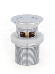 Basin Waste | 32 x 40mm  Universal Pull Out Pop Up Basin Plug &  Waste - Chrome - Code: TWS-21C