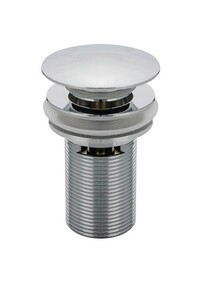 Basin Waste | 40 x 75mm Pop Up Waste - Overflow - Dome - Chrome - Code: DP4075W