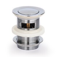 Basin Waste | 40mm Pull Out Pop Up Basin Plug & Waste with Overflow - Chrome - Code: TW-11C