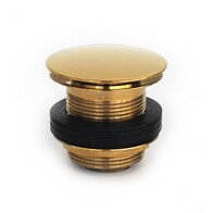 Bath Waste | 40mm Pull Out Pop Up Bath Waste - Dome - Gold - Code: TW-26G