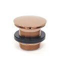 Bath Waste | 40mm Universal Pull Out Pop Up Bath Plug & Waste - Dome - Rose Gold - Code: TW-26RG
