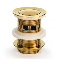 Basin Waste | 40mm Pull Out Pop Up Basin Waste with Overflow - Gold Finish - Code: TW-11G