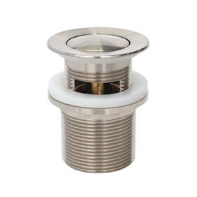 Basin Waste | Premium | 32x40mm Universal Pull Out Pop Up Waste | Brushed Nickel | TWS-21BN