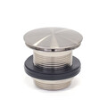 Bath Waste | 40mm Universal Pull Out Pop Up Bath Waste - Dome - Brushed Nickel - Code: TW-26BN