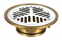 Floor Grate | Vinyl Floor Grate | 50mm | Brass | Chrome | Code: AW-VFG50