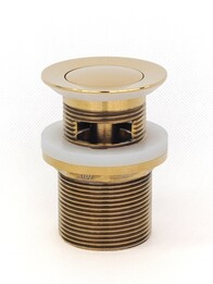 Basin Waste | 32 x 40mm Universal Pull Out Pop Up Basin Plug & Waste - Gold - Code: TWS-21G
