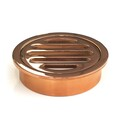 Floor Grate | 80mm Round | Brass | Rose Gold Finish | Code: FGR80RG