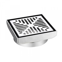 Floor Grate | 80mm | Square | Chrome Plated | Brass Body | Code: 2238