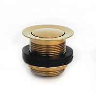 Bath Waste | 40mm Pull Out Pop Up Bath Plug & Waste - Gold - Code: TW-16G