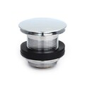 Bath Waste | 40mm Pull Out Pop Up Bath Plug & Waste - Dome - Chrome - Code: TW-26C