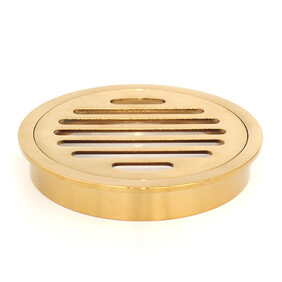@Floor Grate | 100mm Round | Brass | Brushed Gold Finish | Code: FGR100BG