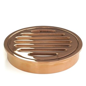 Floor Grate | 100mm Round | Brass | Rose Gold | Code: FGR100RG