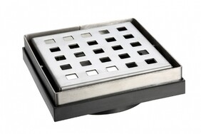Floor Grate | 80mm | Stainless Steel | Floor Grate | Chrome Plated | Code: 8706