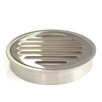 Floor Grate | 100mm Round | Brass | Brushed Nickel | Code: FGR100BN