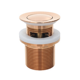 Basin Waste | Premium | 32x40mm Universal Pull Out Pop Up Waste | Rose Gold | TWS-21RG